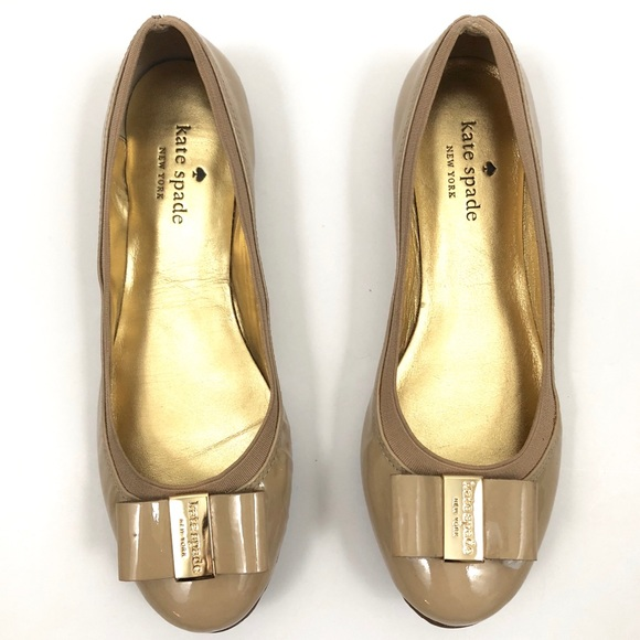 00b1681646be kate spade Shoes - NWOB Kate Spade Tock Nude Patent Leather Flats